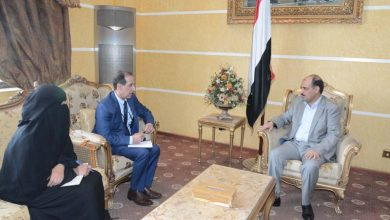 Photo of (صور)لقاء الوزير مع مدير البرنامج القطري لبرنامج الأمم المتحدة للمستوطنات البشرية الهابيتات (الموائل)