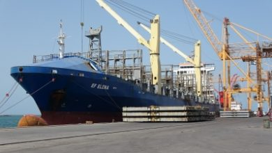 Photo of السفينة (EF ELENA) ترسوا بميناء الحديدة