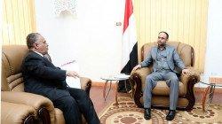 Photo of الرئيس المشاط يلتقي رئيس مجلس النواب