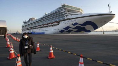Photo of ارتفاع الإصابات بفيروس كورونا على متن السفينة السياحية قبالة اليابان الى 355