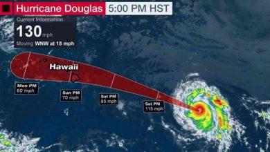Photo of الإعصار دوجلاس يقترب من جزر هاواي الأمريكية