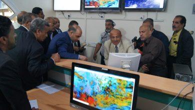 Photo of وزير النقل يطلع على سير العمل بقطاع الأرصاد الجوية